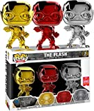 Funko Pop 3PK The Flash Chrome SDCC 2018 Summer Convention CROMADOS EXCLUSIVOS Justice League